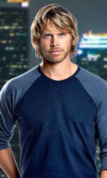 hot chick on ncis los angeles detective marty deeks played by eric christian olsen