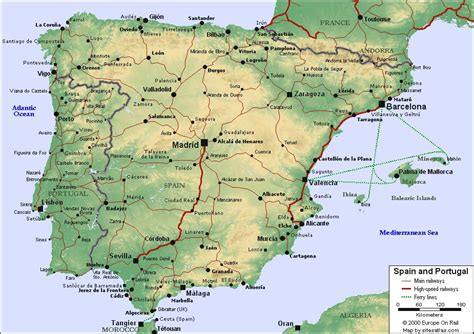 map of spain and portugal map of spain and portugal for use in locating the cities o flickr