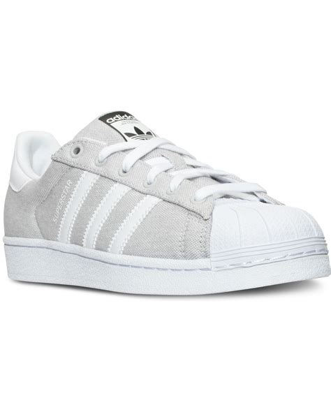 adidas originals s superstar casual sneakers from finish line in gray grey white lyst