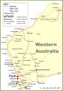 map western australia road map of western australia with cities and towns