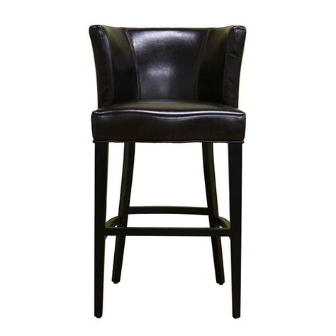 Brown Leather Bar Stools With Back Object Moved