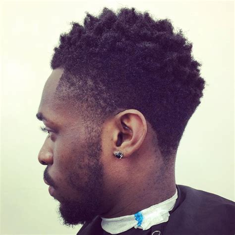 tapered haircut black men with afro nappy afro with taper fade nappy afro with taper fade