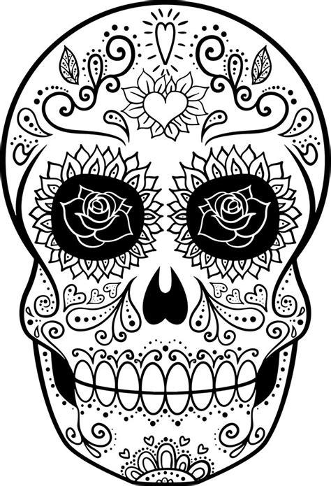 imagenes de calaveras bonitas para colorear dibujos de calaveras para colorear decalaveras com