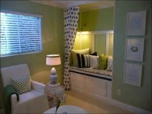 bedroom converted closet into a bed for the home