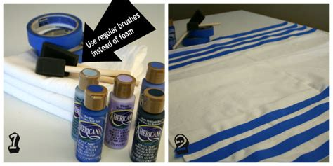 Painting Upholstery With Acrylic Paint by Diy Vintage Kitchen Towels How To Paint On Fabric