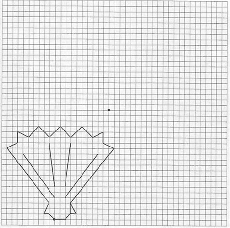 pattern drawing grid how to draw shell hellokids com