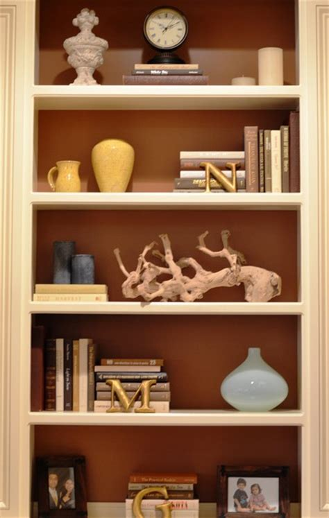 how to decorate open shelves bookcase accessorizing