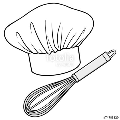 coloring page chef hat chef hat drawing sketch coloring page