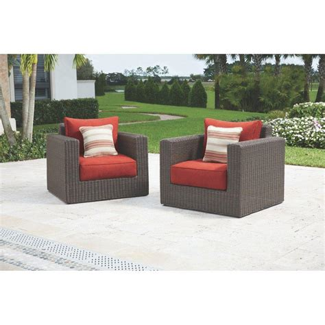 Patio Cushions Naples Home Decorators Collection Naples Brown Patio Lounge Chair