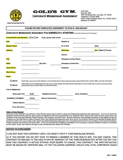 membership form template doc membership application form template