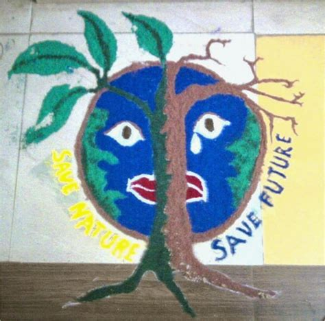 rangoli themes save water rangoli colours to save environment lead