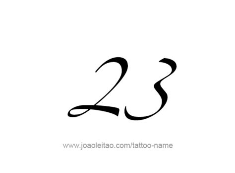 twenty three 23 number tattoo designs tattoos with names