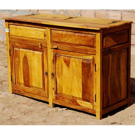 kitchen sideboard cabinet dallas ranch solid wood 2 door rustic kitchen storage