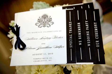 Handmade Wedding Programs - wedding invitation inspiration ceremony program handmade