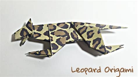Origami Cheetah - leopard origami tutorial animals origami my crafts and