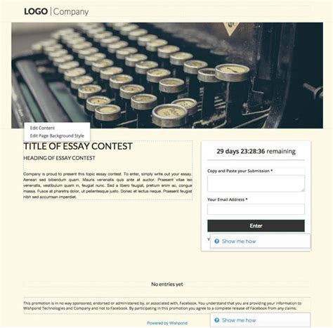 7 Free Templates For Your Next Contest Or Giveaway Contest Template