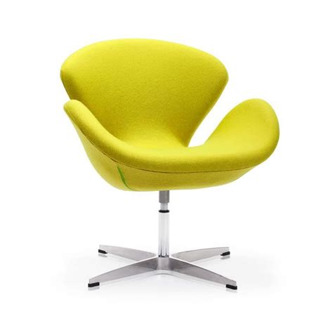 Modern Curved Swivel Chair In Lime Swivel Chairs Modern