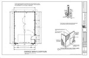 16 X 24 Garage Plans by G220 16 X 24 Garage Plan Blueprints Free House Plan Reviews