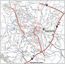 fayetteville carolina map interstate guide interstate 295 carolina