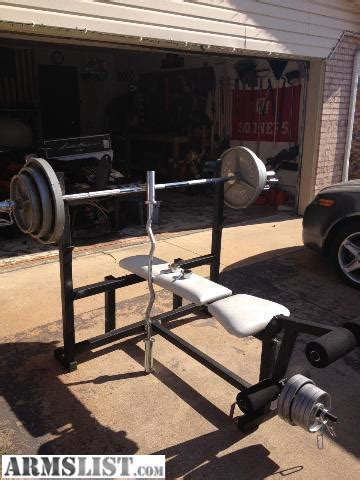 weight bench bar for sale armslist for sale trade weight bench straight and curl