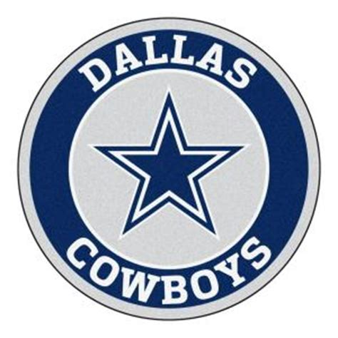 fanmats nfl dallas cowboys navy 2 ft 3 in x 2 ft 3 in accent rug 17956 the home depot