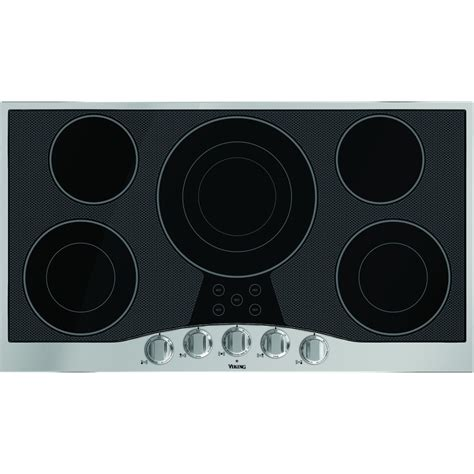 Stainless Steel Cooktop Electric rvec3365bsb viking 36 quot electric cooktop stainless steel