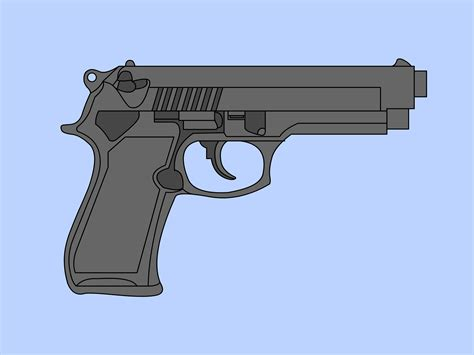 9mm Drawing by How To Draw A 9mm Gun 6 Steps With Pictures Wikihow
