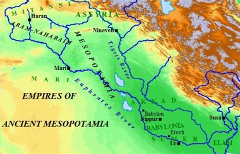 ancient mesopotamia map a map of ancient mesopotamia 061011 187 vector clip free clip images
