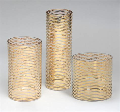 Gold Glass For Vases by Metallic Decor That Adds Subtle Sparkle To Your Interior