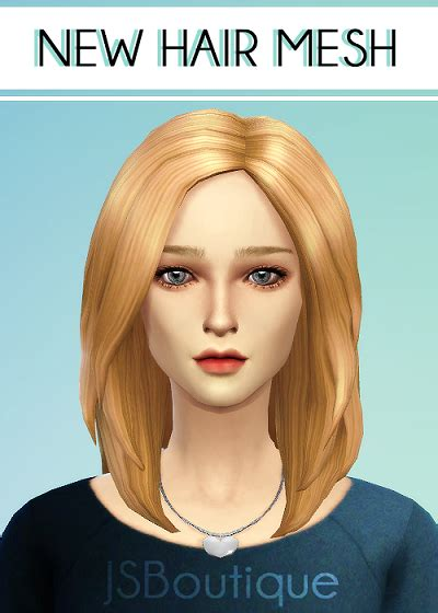 jsboutique hair 1 comes in all the default ea hair my sims 4 blog jsboutique hair 1 for females in all ea