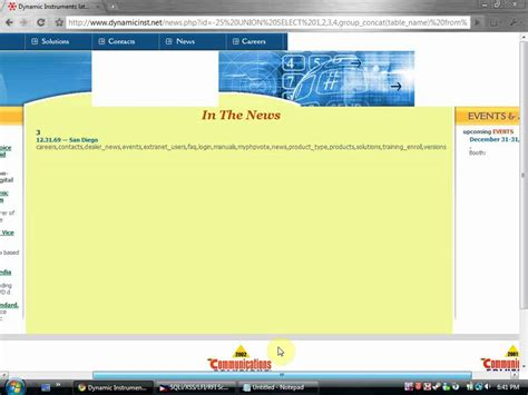 tutorial hack web tutorial hack a website with sql injection youtube
