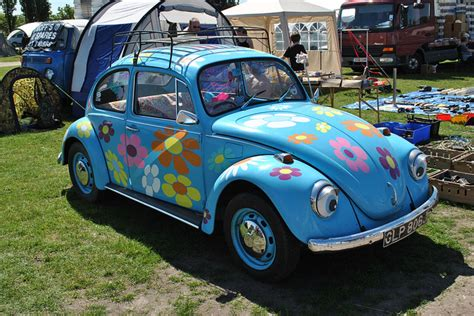 volkswagen beetle flower flower power vw beetle cars motorcycles