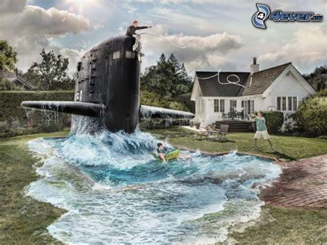submarine house pool