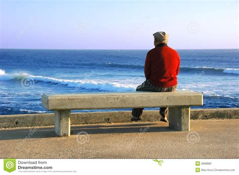 on the bench old man sitting on the bench stock photos image 2999883