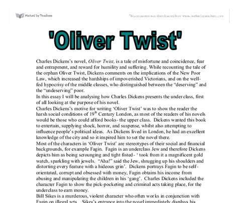 biography charles dickens summary essay on oliver twist