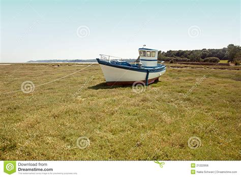 land boat boat on land stock photo image of blue funny tied