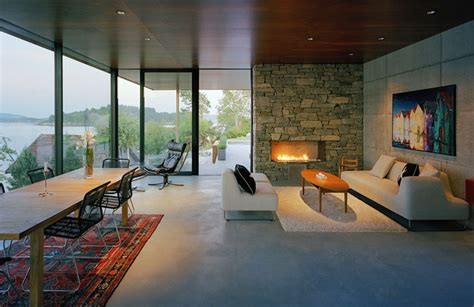 stunning modern home overlooking  fjord  norway