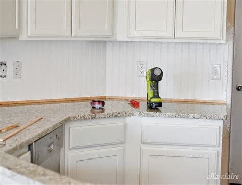 kitchen beadboard backsplash 30 beadboard kitchen backsplash tutorial ella