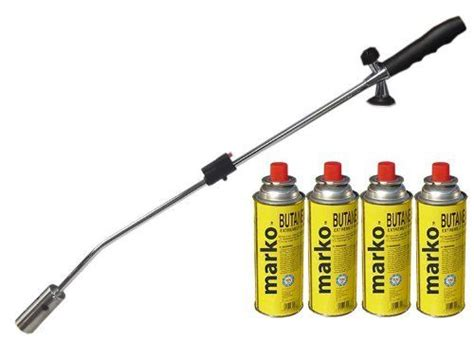 burner gun gas torch killer with 4 8 12 gas canisters ebay
