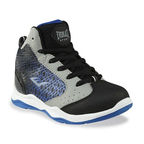 everlast basketball shoes everlast 174 sport boy s code black blue gray basketball shoe