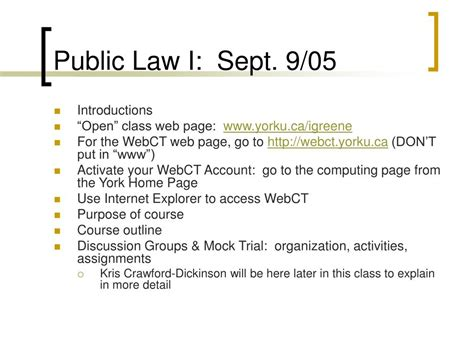 new york public health law section 18 ppt public law i sept 9 05 powerpoint presentation