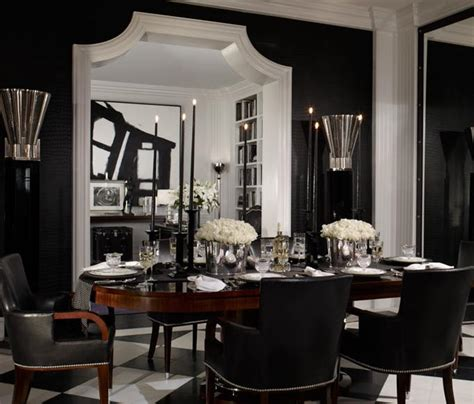 Black Leather Dining Chairs Design Ideas Black Dining Room Furniture Decorating Ideas