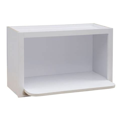home depot wall shelving home decorators collection 30x18x18 in hallmark assembled wall microwave shelf in arctic white