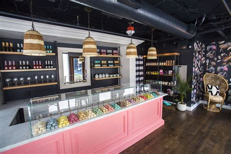 lade shop yum shows a fancy new for macarons and