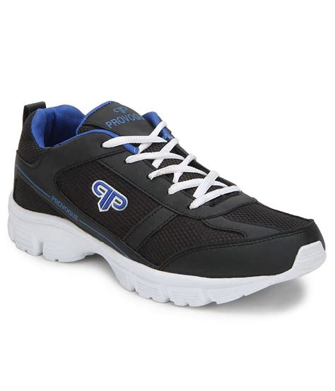 provogue black sports shoes