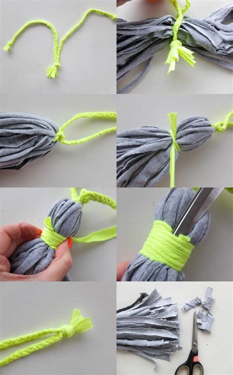 Easy Curtain Ideas Upcycle Style T Shirt Tassel My Poppet Makes