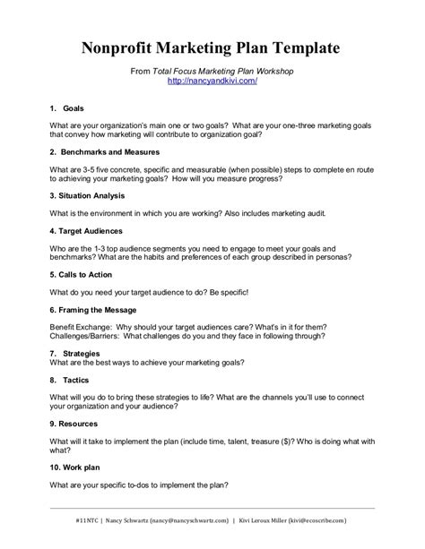 Nonprofit Marketing Plan Template Summary New Business Marketing Plan Template