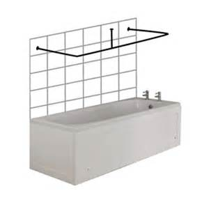 croydex c shaped shower curtain rail and ceiling support