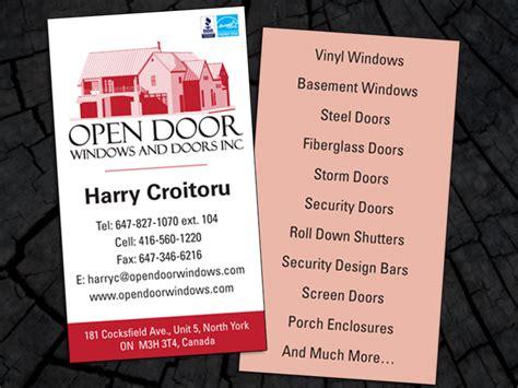 door to door business sales door business cards garrettu0027s garage door business