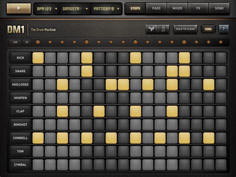 drum pattern vst dm1 music app review brilliant drum machine for ios from